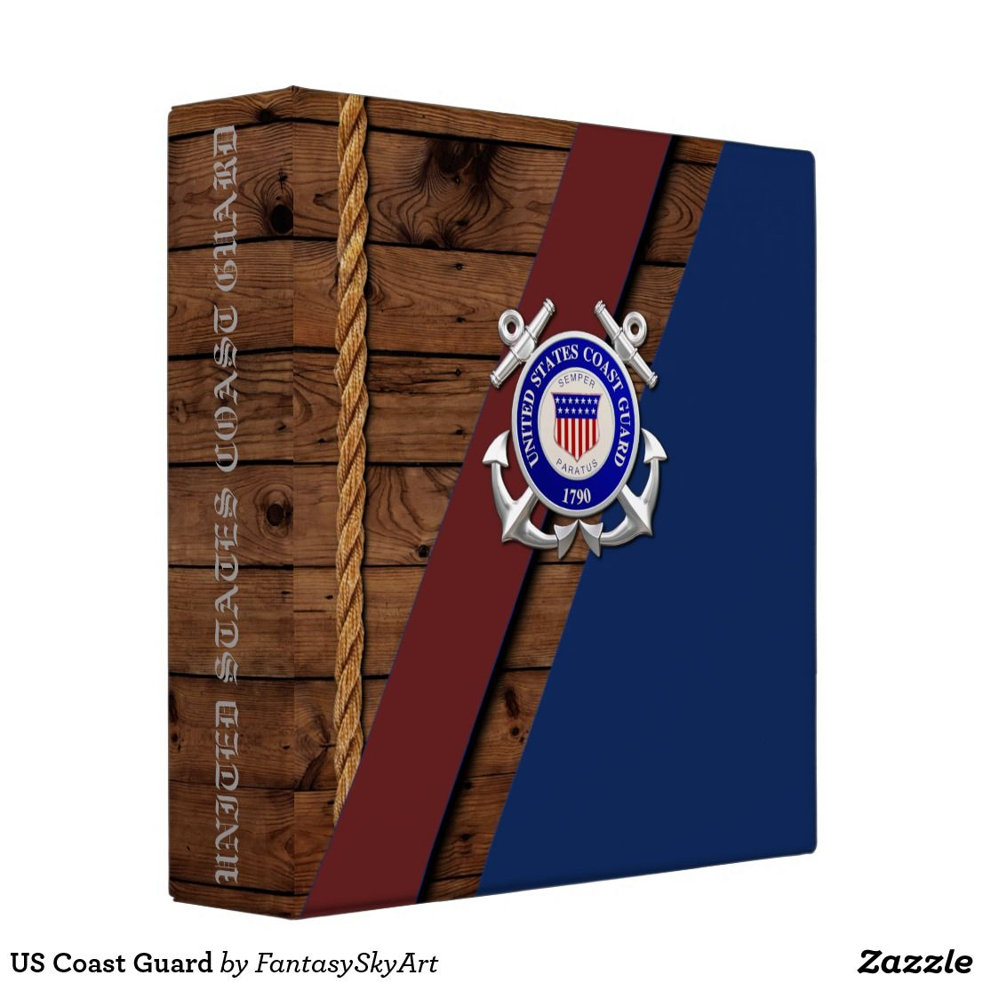 US Coast Guard 3 Ring Binder