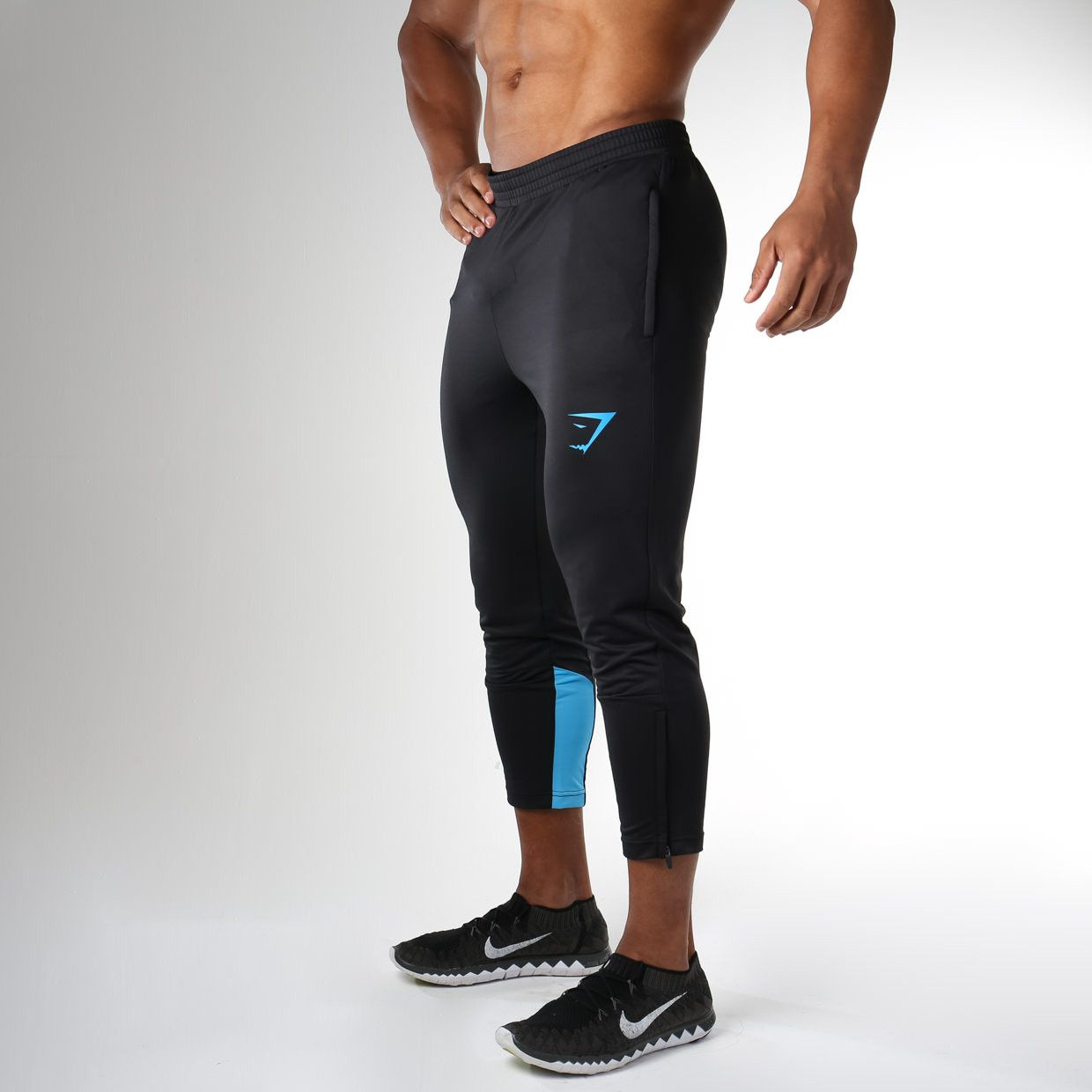 Gymshark Reactive 3 4 Training Pant - Black Gymshark Blue  0cb766a728ea