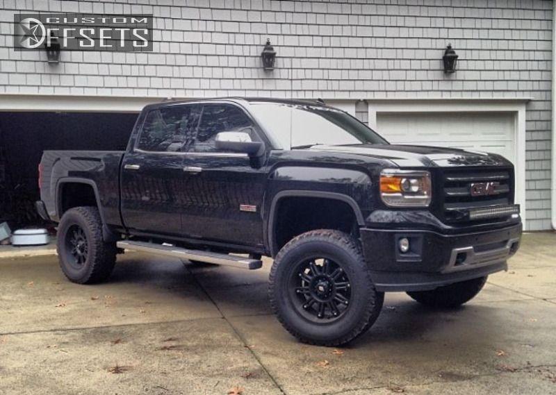Black Lifted Gmc Sierra Truck Gmc Trucks Lifted Trucks Trucks