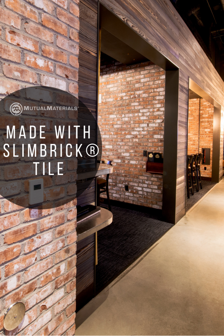 Add A Brick Wall Anywhere Slimbrick Tile This Por Used Commonly In Restaurants Offices And Businesses Is Now Available For Online Purchase