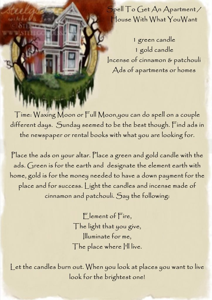 A Spell To Get An Apartment House With What Youwant