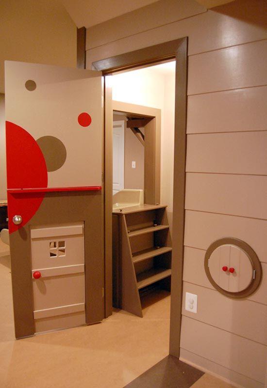 Dutch door with customized child door and playful custom