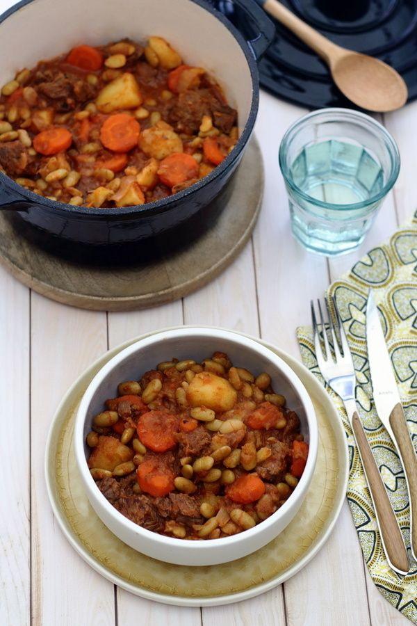 Mijoté de boeuf aux flageolets, pommes de terre et carottes