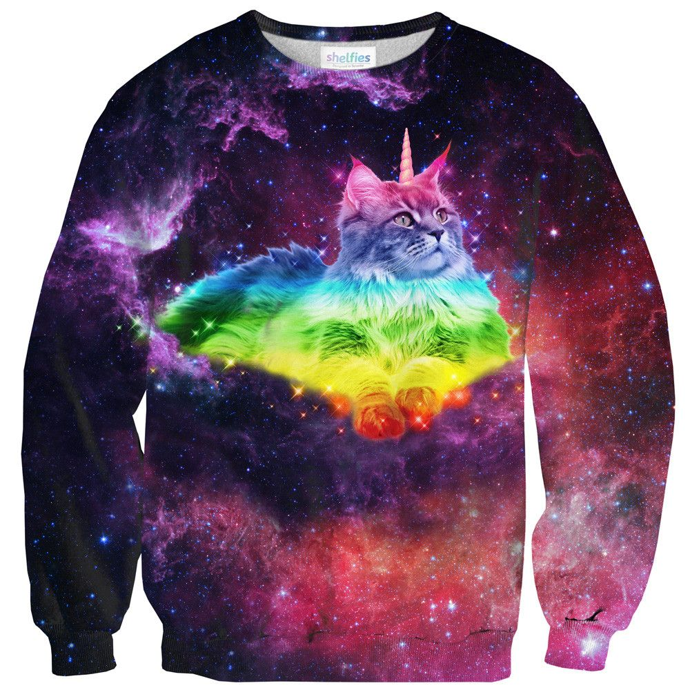 Magical Space Cat Sweater By Shelfies Cat Sweaters Outrageous Clothing Space Cat [ 1000 x 1000 Pixel ]