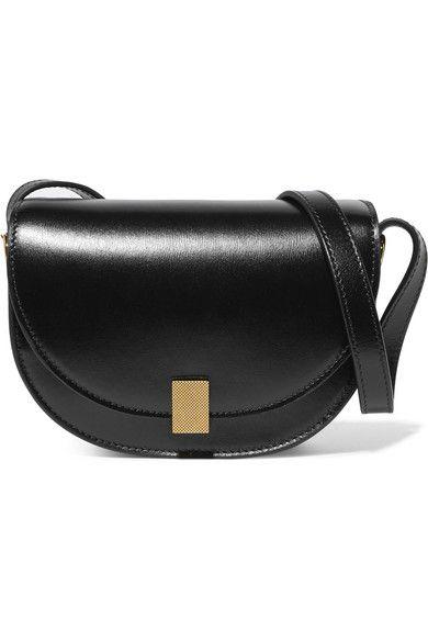 Half Moon Box Nano Leather Shoulder Bag - Black Victoria Beckham yoAXrIIo