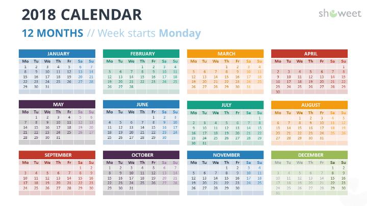 Calendar Powerpoint Templates  Bcsv    Template