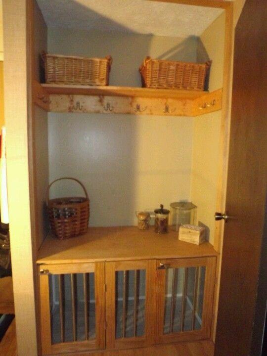 built in dog crates so i had a closet full of junk that wasnu0027