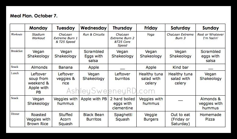 Sample Meal Plan  Carb Free Dieting    Insanity Diet