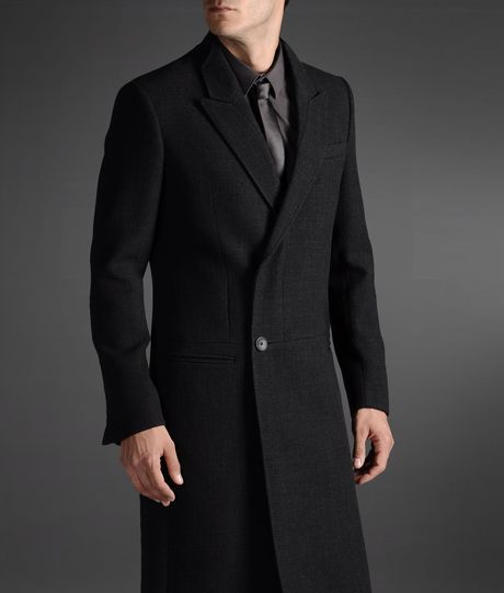 2856c8269348 Emporio Armani Coat in Gray for Men (steel grey)