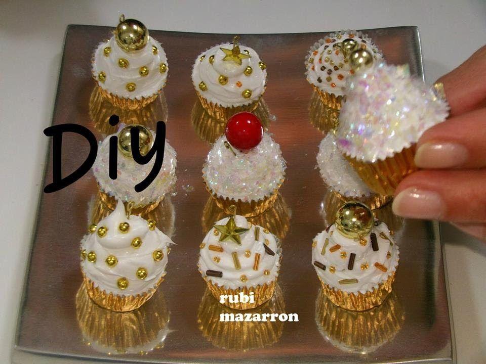 Diy cupcakes de navidad para el arbol manualidades cup cake para decorar arbolito navidad - Manualidades para decorar en navidad ...