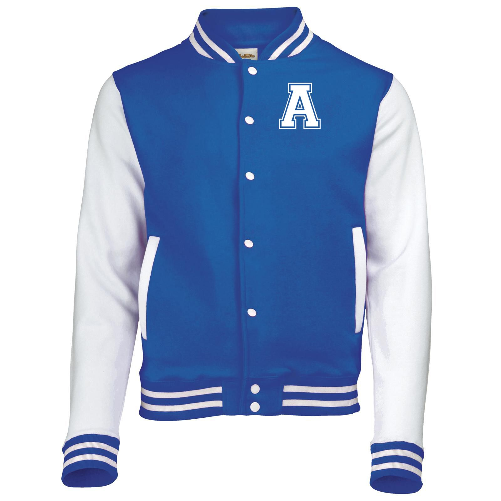 Mens AWDis COLLEGE Letterman Baseball VARSITY JACKET in Colour Choices