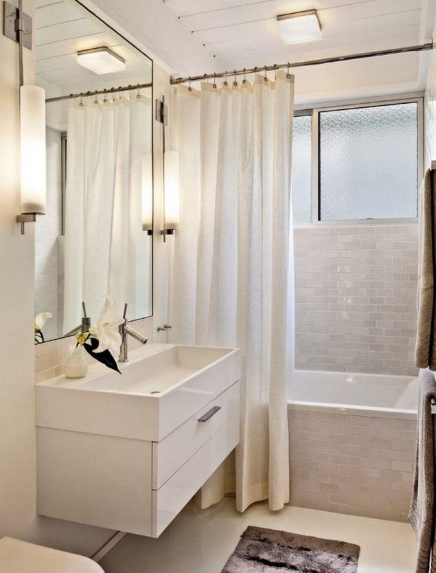 Peinture salle de bains pour agrandir lu0027espace restreint - salle de bains beige