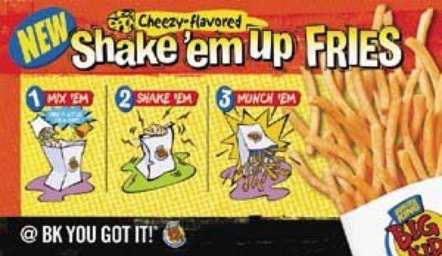 Burger King's Shake 'Em Up Fries Burger king shakes