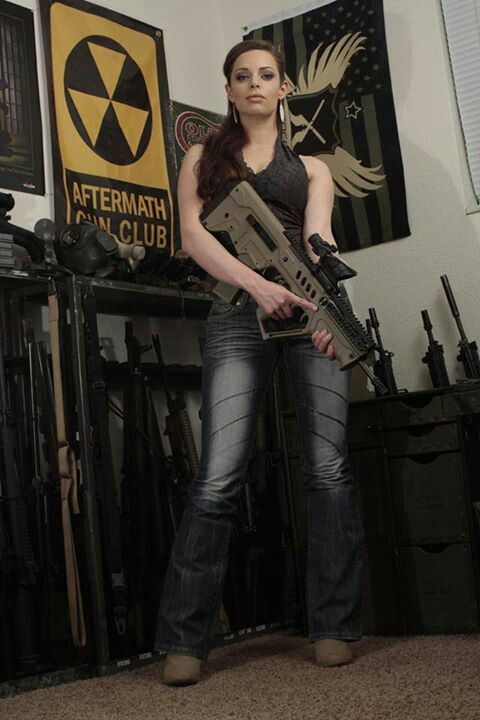 With guns girls bad