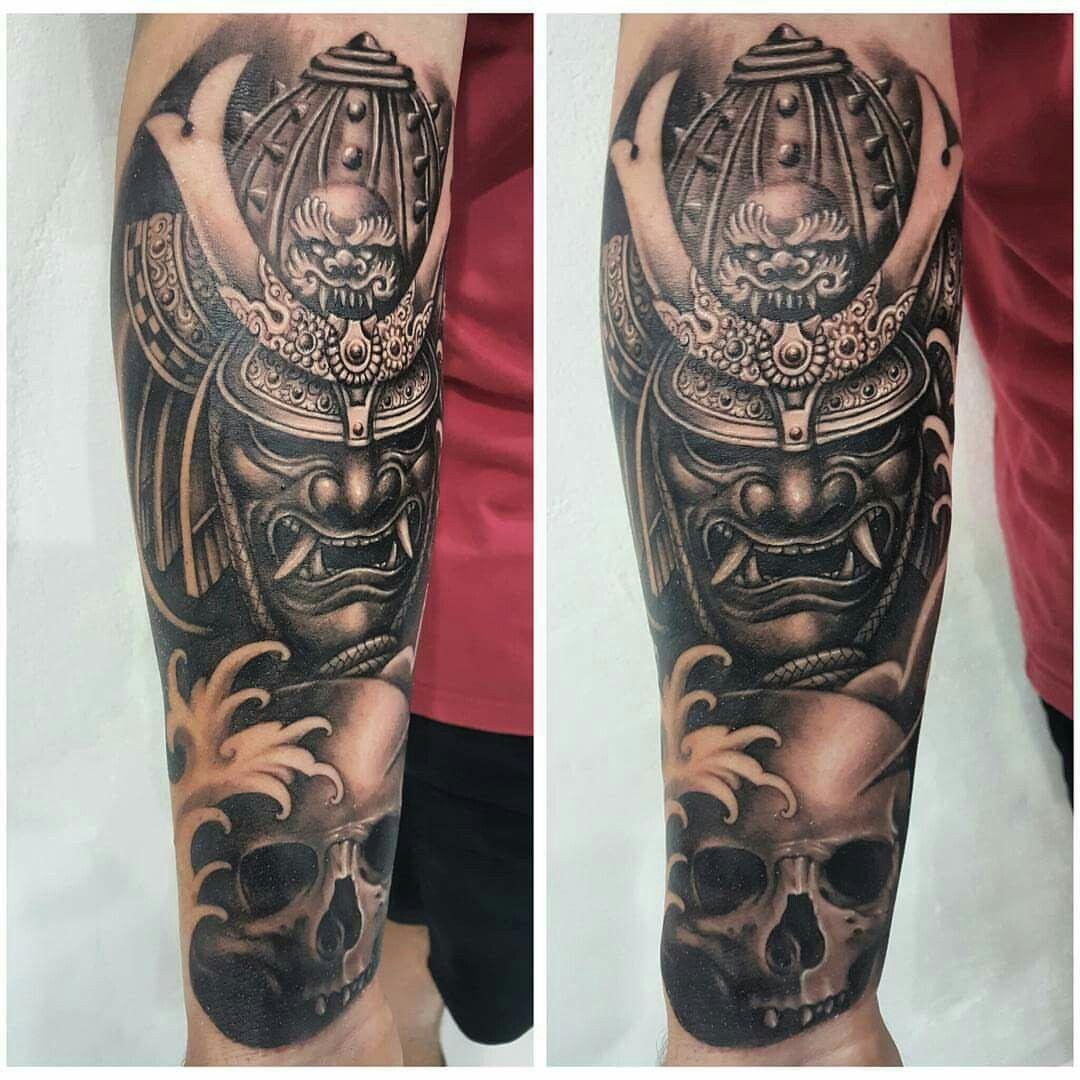 Samurai Tattoo Tatuagem Braco Tatouage Samourai Tatouage Samourai