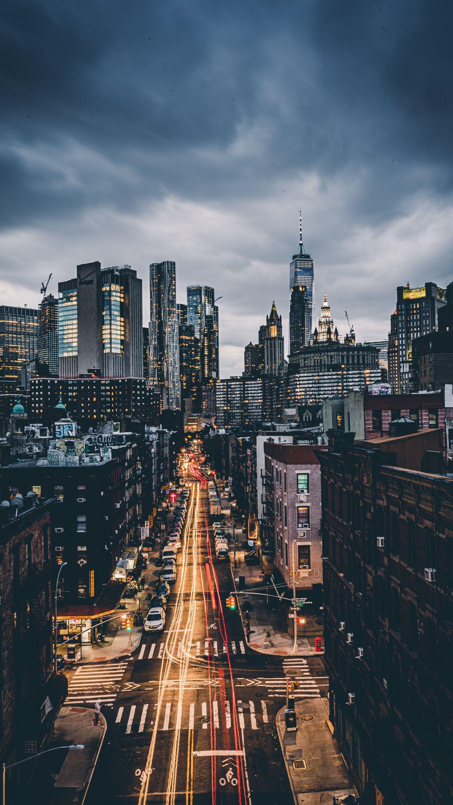 1440x2560 City Evening Skyscrapers Cityscape Wallpaper New York Wallpaper Cityscape Wallpaper City Wallpaper