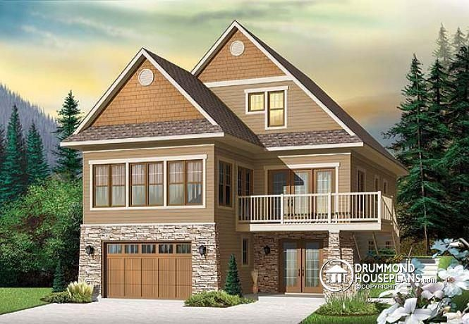 Lakefront view house plans