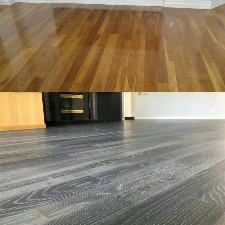 White Oak Hardwood Floor Restoration Before And After Fully Sanded And Then Fumed And Finished With Rubio Monocoa Hardwood Floors Flooring Refinishing Floors