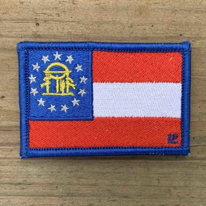 Georgia State Flag 2x3 Loyalty Patch Patches State Flags Loyalty