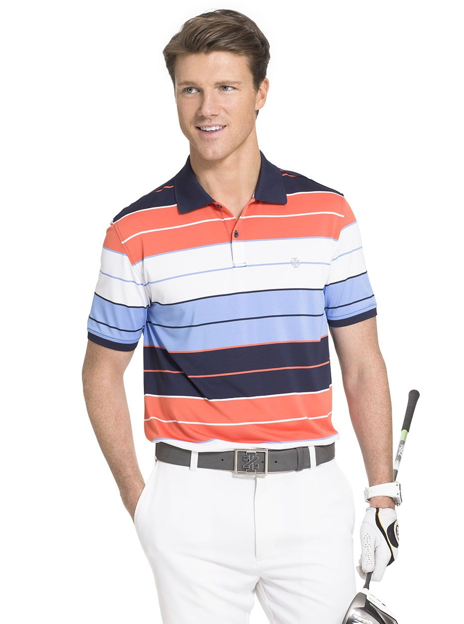 This short-sleeve IZOD polo shirt will be the perfect addition to ...