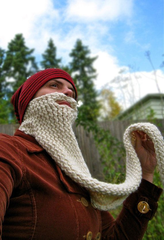 wizard knit beard face neck warmer costume disguise by FoamyWader ... 15b4809afb9f