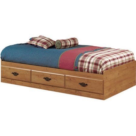 South Shore Prairie Twin Storage Bed With 6 Mattress Country