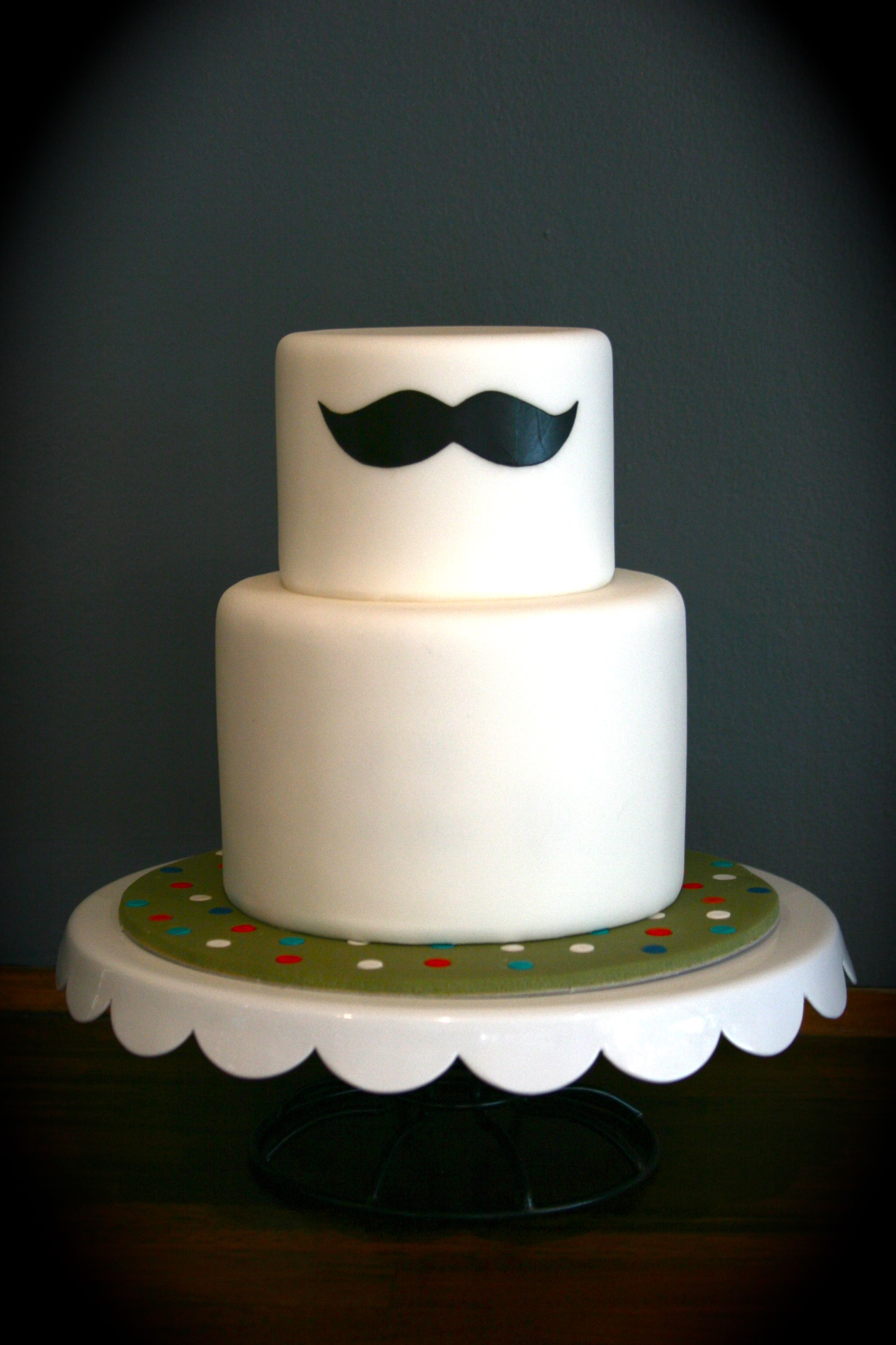 Moustache cake by Sugarplum Cake Shop Soirees Pinterest