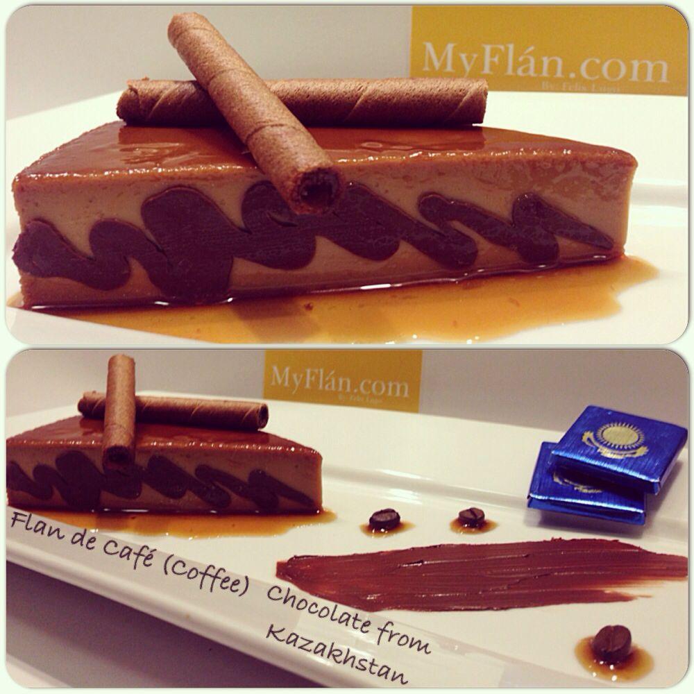 Flan de Café (coffee) chocolate from Kazakhstan (Rakhat Chocolate)