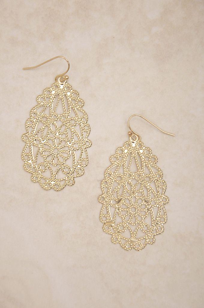 luminous lace earrings