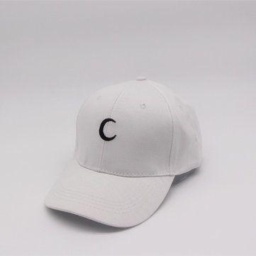 7879175f22e Men Women White Moon Hat Hip Hop Kpop Sport Curved Strapback Adjustable  Baseball Cap