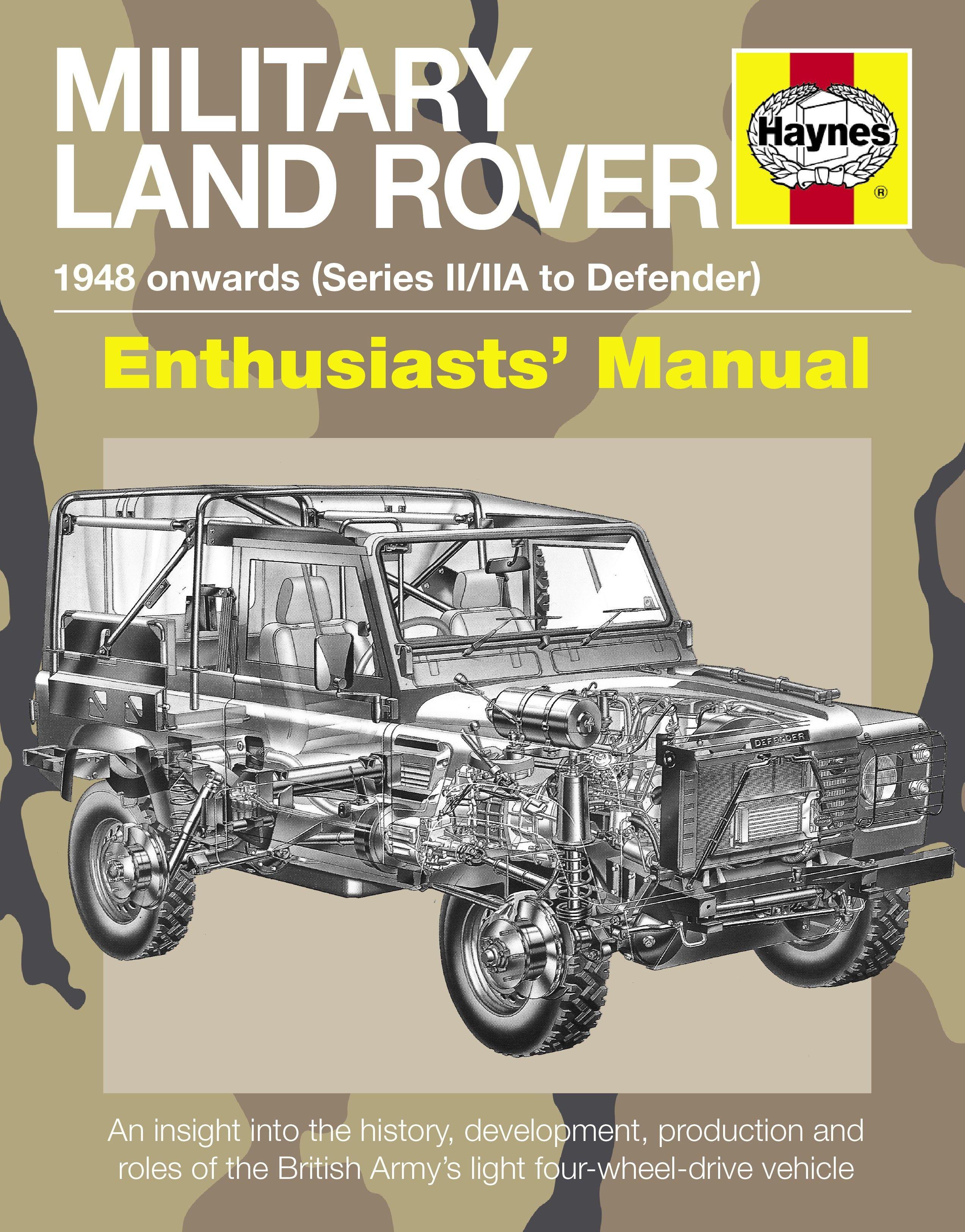 military land rover manual 1948 onwards (series ii/iia to defender