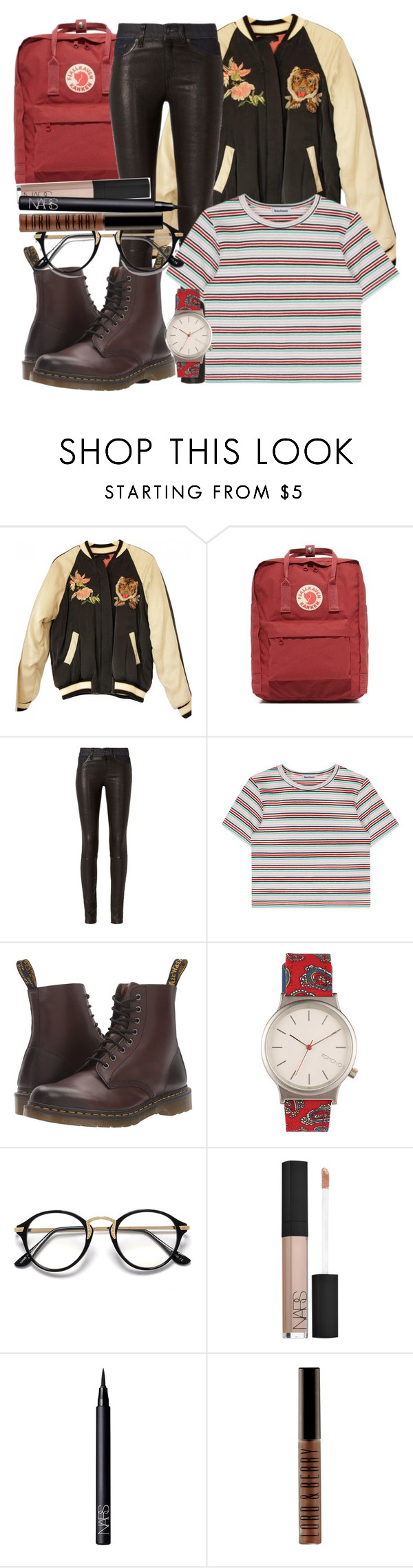 """n y c"" by ravenclaw-girl-1 ❤ liked on Polyvore featuring Isabel Marant, Fjällräven, rag & bone, Dr. Martens, Komono, NARS Cosmetics and Lord & Berry"