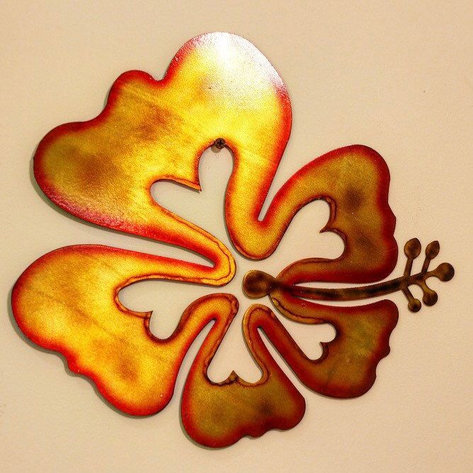 Metal Hibiscus Wall Art, hibiscus wall decor, aloha decor, hawaiian ...