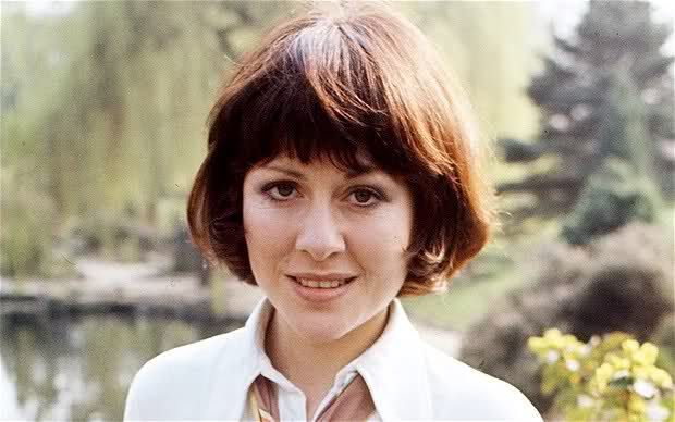 Elisabeth Sladen. I'm definitely going to let my hair grow just to have this haircut. She was such a beautiful inspiring woman.