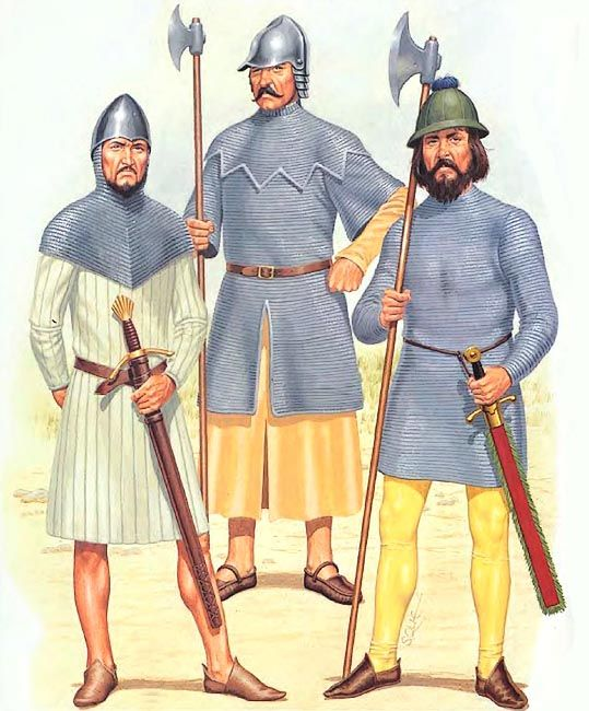 The Irish Wars • Galloglass, 15th C. • Galloglass, 1521