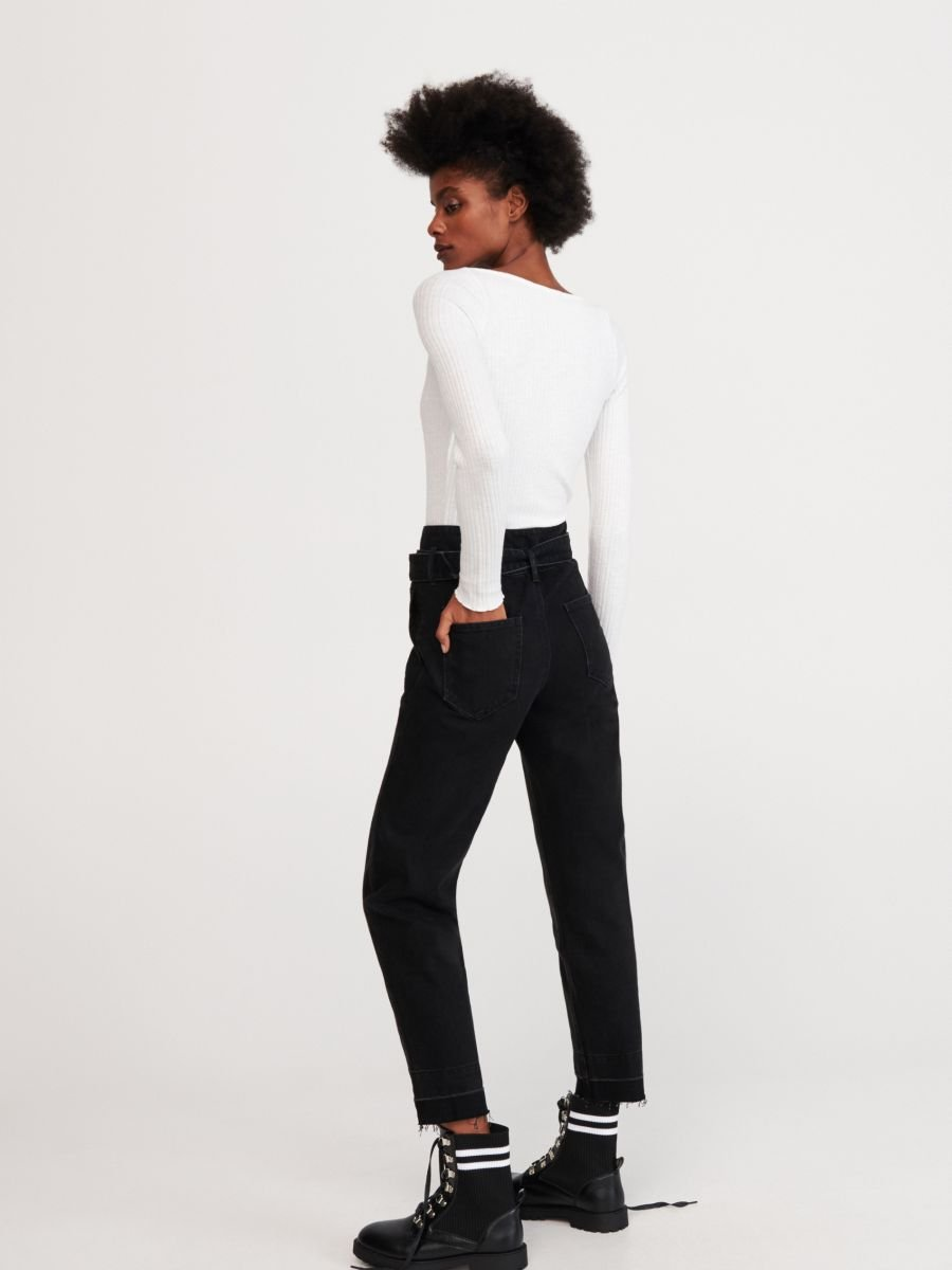 Kupuj Online Jeansy Z Paskiem Reserved Yb499 99j Women Jeans Fashion Pantsuit