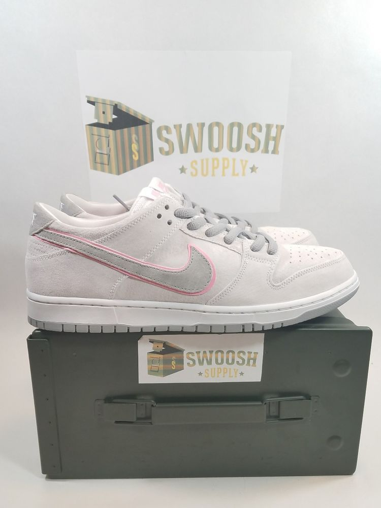 best value 3d3ec f6069 NIKE SB ZOOM DUNK LOW PRO ISHOD WAIR WHITE PERFECT PINK SLVER 895969 160 SZ  11.5  NIKE  AthleticSneakers