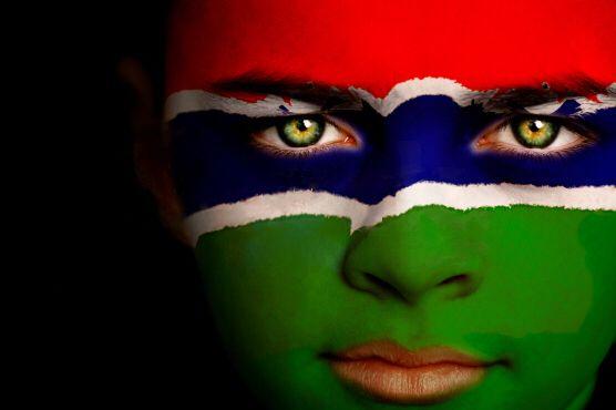 Gambia Flag Boy