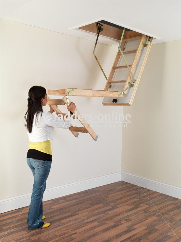 Collapsible Ladder To Attic Tiny House Loft House Stairs