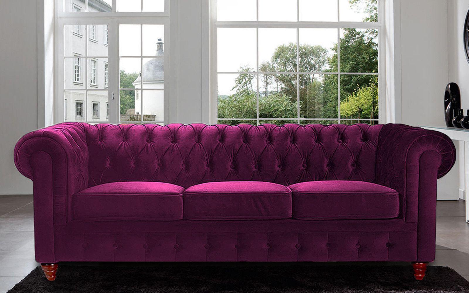 Charleston Classic Chesterfield Velvet Sofa