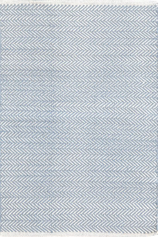 Herringbone swedish blue woven cotton rug runners 278 for Dash and albert runners