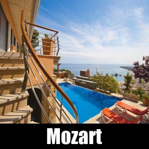Ferienhaus Blanes Costa Brava Villa Spanien Mozart Reise