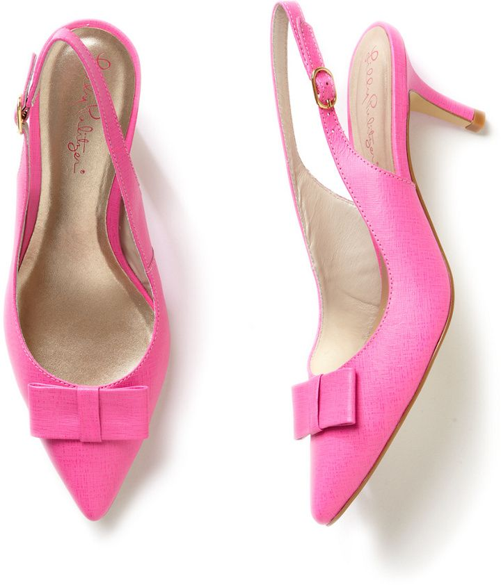 Fuschia Pink Kitten Heel Shoes  Tsaa Heel
