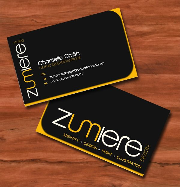 personal business card example