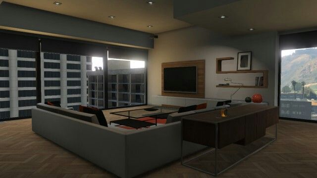 Living room eclipse towers apartment pinterest towers for Designer apartment gta