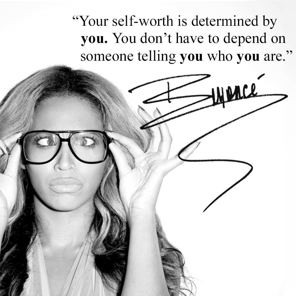 """""""Your Self-worth Is Determined By YOU"""