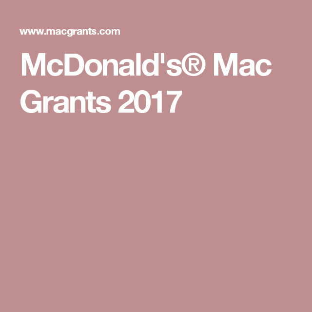 McdonaldS Mac Grants   Grants    Fundraising