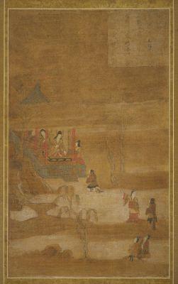 重要文化財|華厳五十五所絵(不動優婆夷)|奈良国立博物館