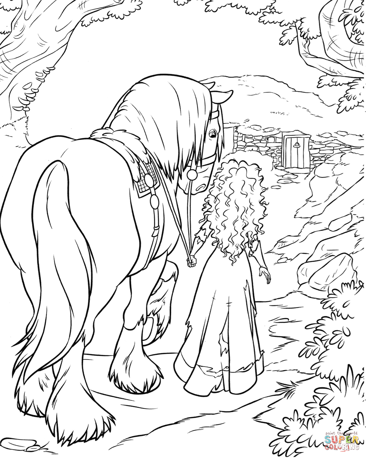 Merida And Angus Coloring Page From Brave Category Select From 27788 Printable C Disney Coloring Pages Cartoon Coloring Pages Disney Coloring Pages Printables [ png ]