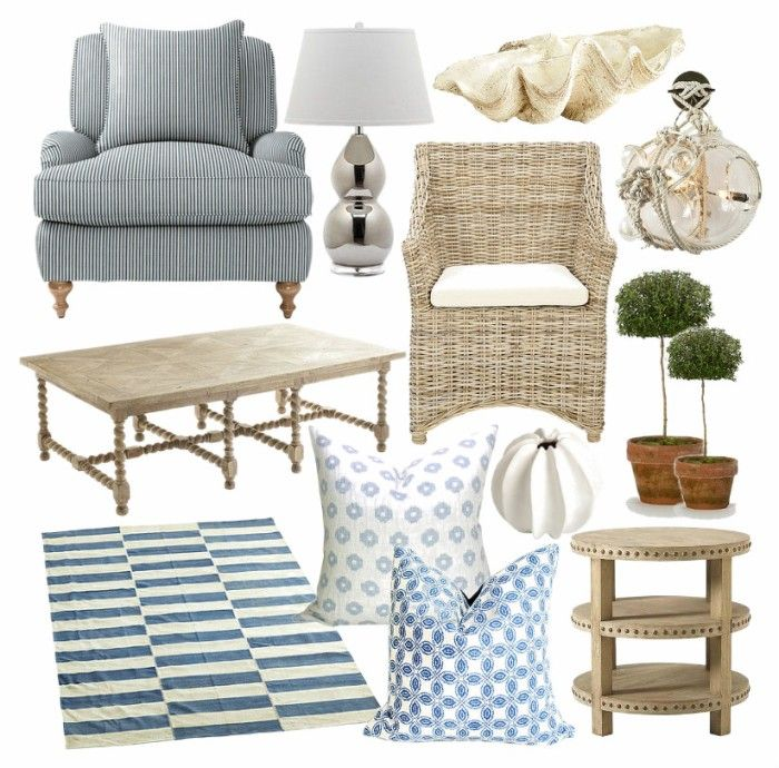 A Fabulously Chic Nantucket Hideaway And My Picks For Getting The Look! Via Bungalow  Blue